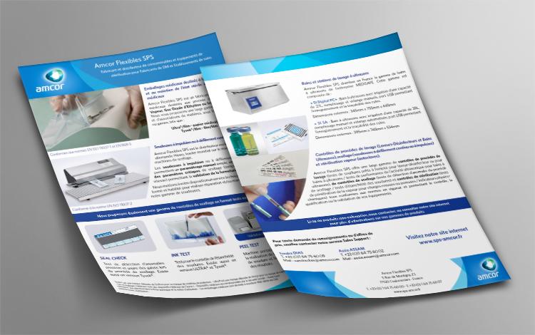 Création plaquette commerciale - Entreprise secteur médical