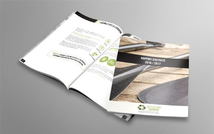 Création rapport d'activité - Association eco-responsable en Essonne